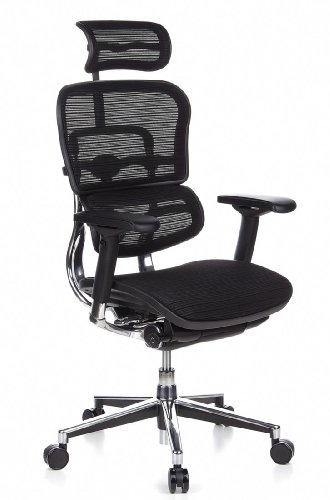 Ergonomischer bürostuhl  HJH Office 652111 Bürostuhl / Chefsessel Ergohuman Netz-Stoff ...