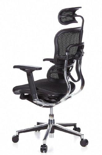 HJH Office 652111 Bürostuhl / Chefsessel Ergohuman Netz-Stoff, schwarz - 11
