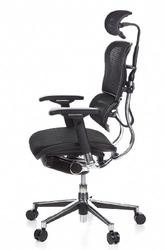 HJH Office 652111 Bürostuhl / Chefsessel Ergohuman Netz-Stoff, schwarz - 13