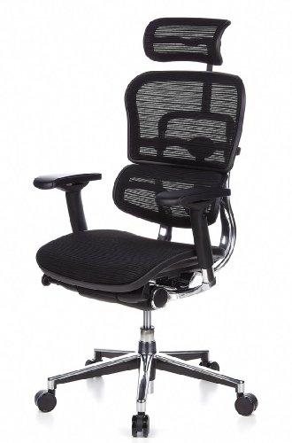 HJH Office 652111 Bürostuhl / Chefsessel Ergohuman Netz-Stoff, schwarz - 15