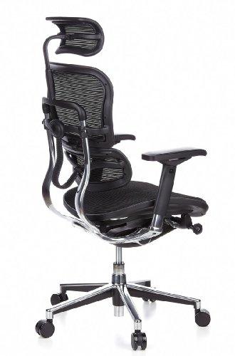 HJH Office 652111 Bürostuhl / Chefsessel Ergohuman Netz-Stoff, schwarz - 5