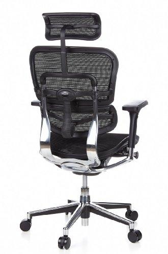 HJH Office 652111 Bürostuhl / Chefsessel Ergohuman Netz-Stoff, schwarz - 7