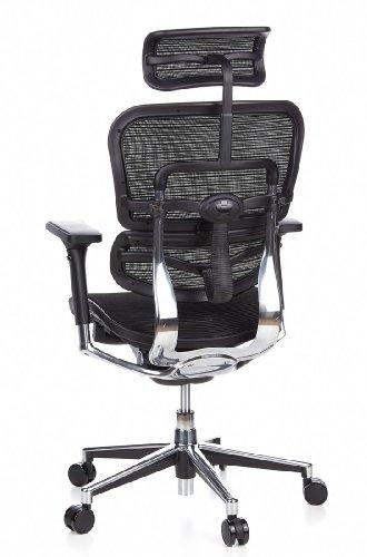 HJH Office 652111 Bürostuhl / Chefsessel Ergohuman Netz-Stoff, schwarz - 9