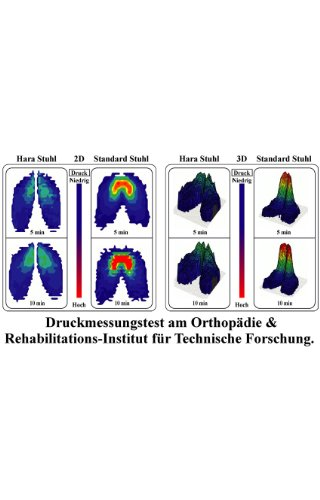 HARASTUHL Druckentlastung der Bandscheiben und verbesserte Gesäß Durchblutung. Modell: NIE-V / Farbe: Schwarz - 4