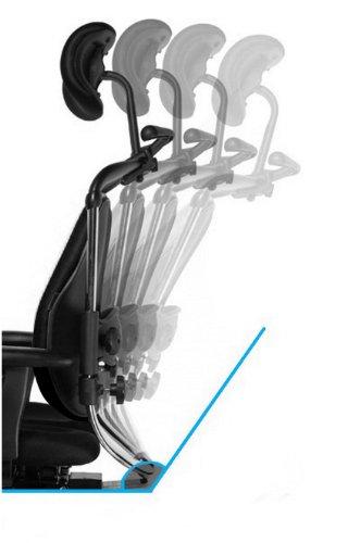 HARASTUHL Druckentlastung der Bandscheiben und verbesserte Gesäß Durchblutung. Modell: NIE-V / Farbe: Schwarz - 7