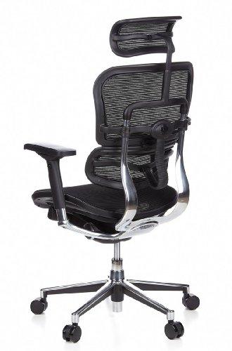 HJH Office 652111 Bürostuhl / Chefsessel Ergohuman Netz-Stoff, schwarz - 10