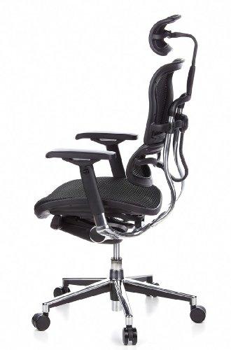 HJH Office 652111 Bürostuhl / Chefsessel Ergohuman Netz-Stoff, schwarz - 12