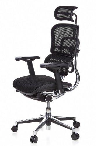 HJH Office 652111 Bürostuhl / Chefsessel Ergohuman Netz-Stoff, schwarz - 14