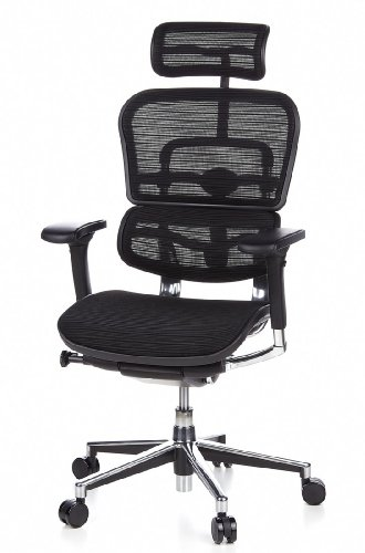 HJH Office 652111 Bürostuhl / Chefsessel Ergohuman Netz-Stoff, schwarz - 16