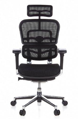 HJH Office 652111 Bürostuhl / Chefsessel Ergohuman Netz-Stoff, schwarz - 17