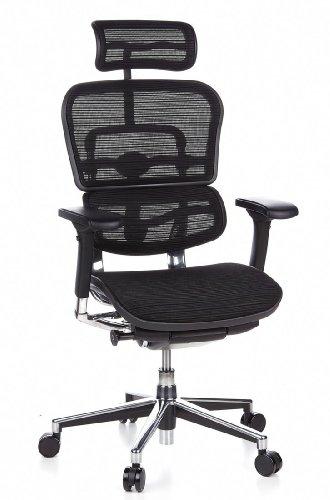 HJH Office 652111 Bürostuhl / Chefsessel Ergohuman Netz-Stoff, schwarz - 18