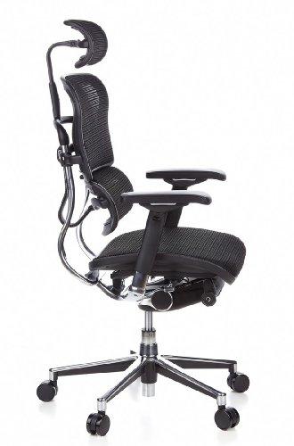 HJH Office 652111 Bürostuhl / Chefsessel Ergohuman Netz-Stoff, schwarz - 3