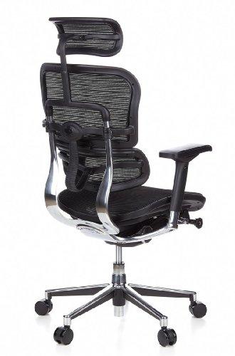 HJH Office 652111 Bürostuhl / Chefsessel Ergohuman Netz-Stoff, schwarz - 6