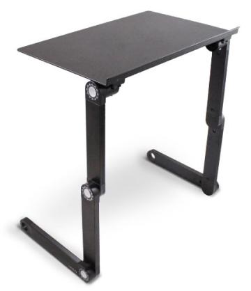 Lavolta Ergonomisch Notebook Laptop Ständer Tisch Bett Frühstück Tablett - Ausklappbare Ebenen - Aluminium - Schwarz - 4
