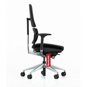 Steelcase Please ergonomischer Chefsessel - mit zweigeteilter Rückenlehne - Bürostuhl + 4in1 Kugelschreiber - 3