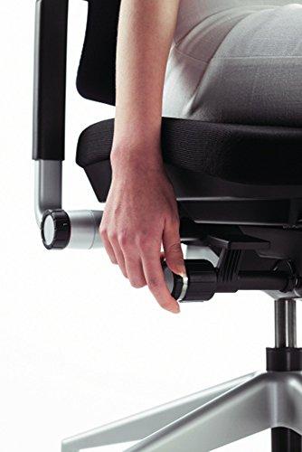 Steelcase Please ergonomischer Chefsessel - mit zweigeteilter Rückenlehne - Bürostuhl + 4in1 Kugelschreiber - 5