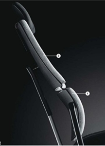 Steelcase Please ergonomischer Chefsessel - mit zweigeteilter Rückenlehne - Bürostuhl + 4in1 Kugelschreiber - 8