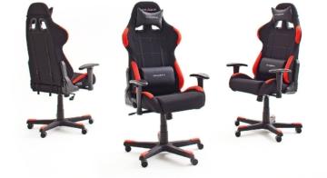 Robas Lund DX Racer 1 Gamingstuhl Ergonomischer Bürostuhl von allen Seiten mit Polster