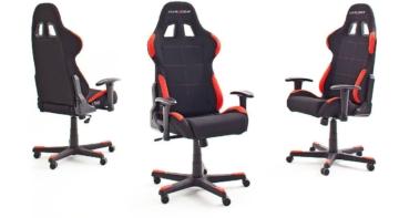 Robas Lund DX Racer 1 Gamingstuhl Ergonomischer Bürostuhl von allen Seiten ohne Polster