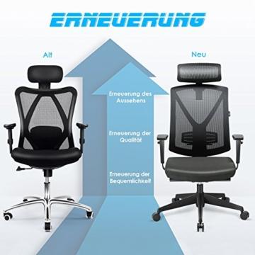INTEY Bürostuhl für 200kg Belastung