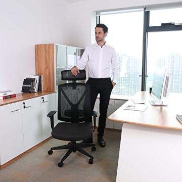INTEY Bürostuhl für ergonomische Schreibtische