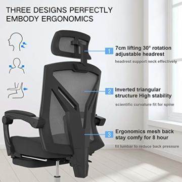Hbada ergonomischer Bürostuhl Eigenschaften