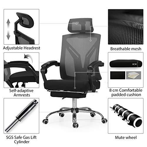 Die wichtigsten Funktionen vom Hbada ergonomischen Bürostuhl