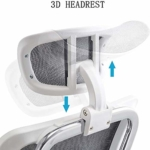 Cedric ergonomischer Bürostuhl höhenvertellbare und neigbare Kopfstütze